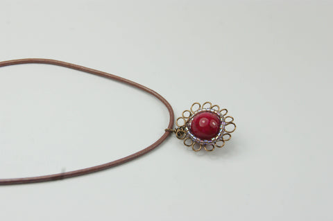 Flower Wire Wrapped Necklace