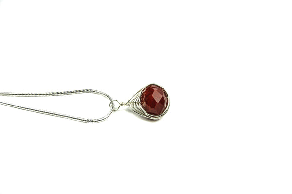 Red Blood Sterling Silver Necklace - Luzjewelrydesign