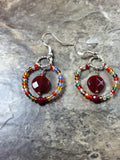 Multicolor crystal earrings - handcrafted Jewelry Luzjewelrydesign