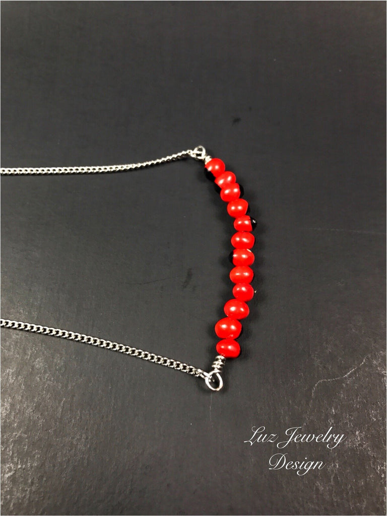 Huayruro necklace - red seed necklace