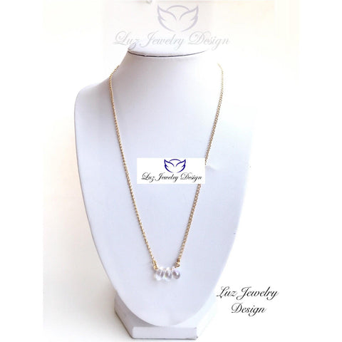 Crystal pendant necklace - crystal necklace