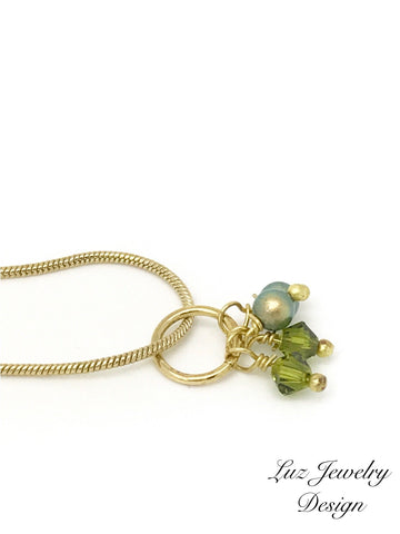 Lime green necklace - light green jewelry