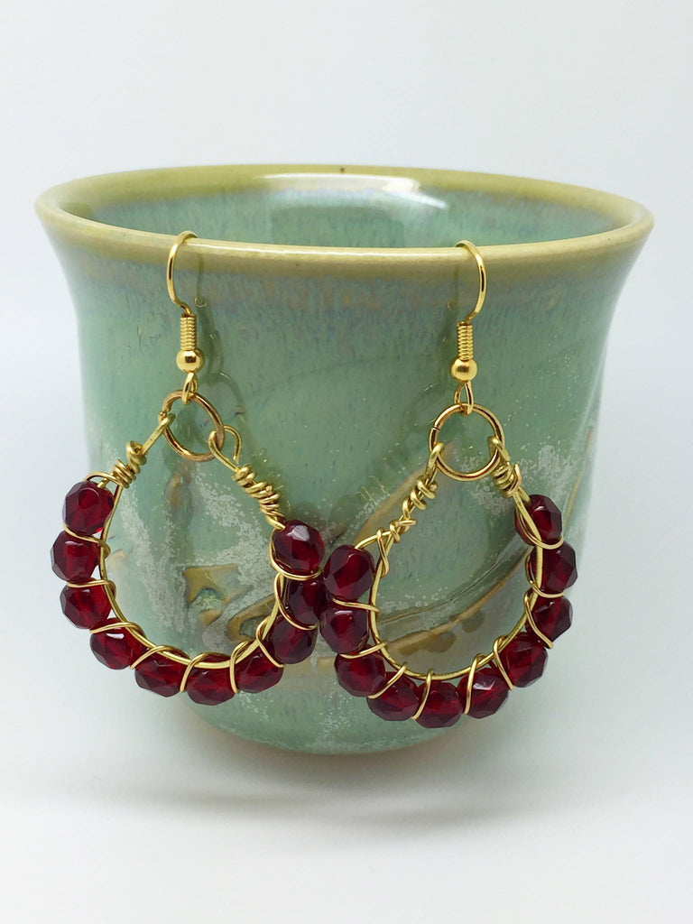 Red earrings outfit, red earrings - Luzjewelrydesign   - 1