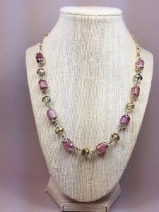 Purple cat eye necklace - Luzjewelrydesign