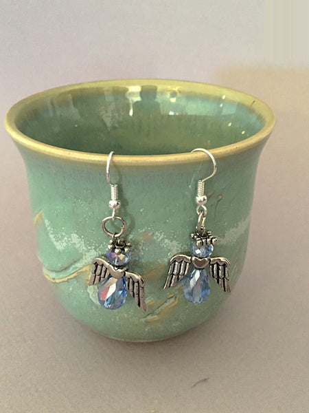 Blue angel earrings - Luzjewelrydesign   - 2
