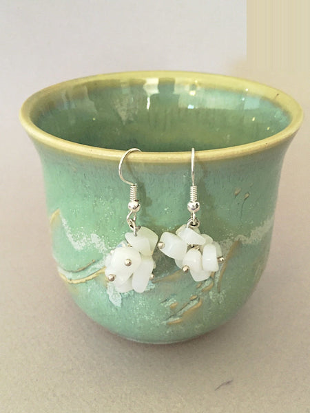 Clear white earrings - Luzjewelrydesign   - 2