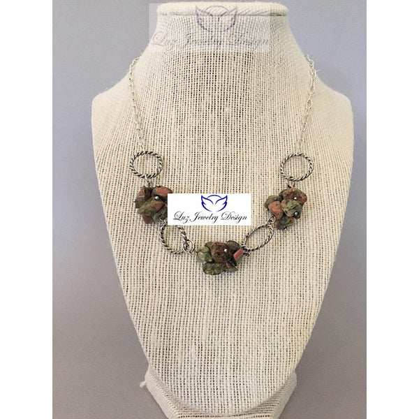 Chuncky necklace - handcrafted Jewelry Luzjewelrydesign