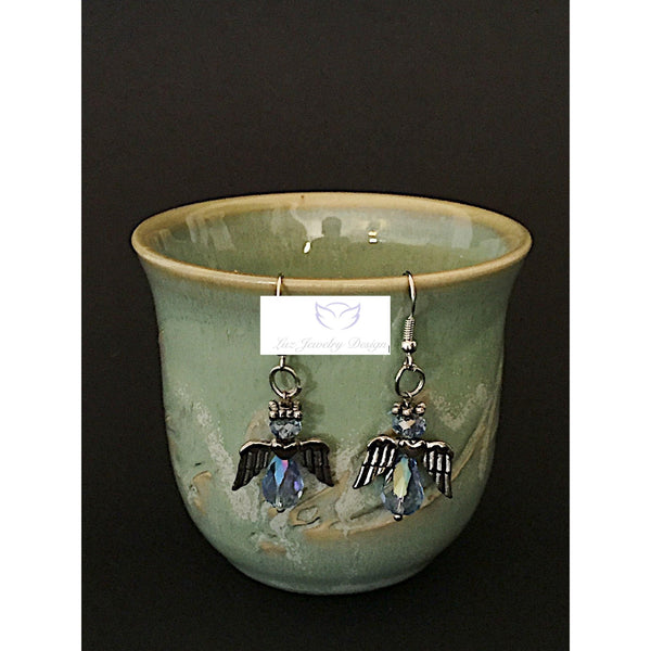 Blue angel earrings - Luzjewelrydesign   - 3