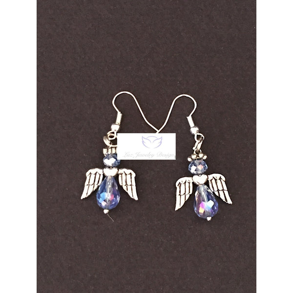 Blue angel earrings - Luzjewelrydesign   - 4