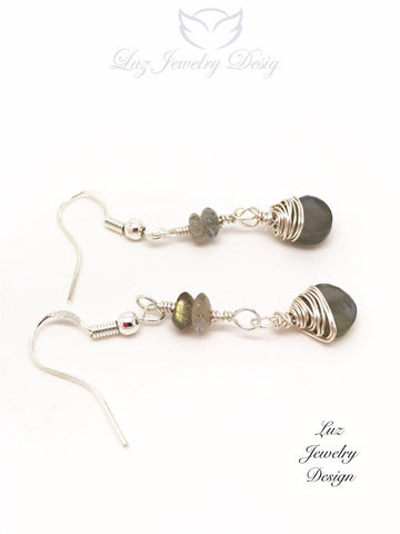 Labradorite earrings - Labradorite jewelry