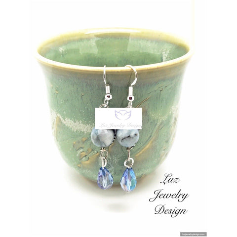 Angelite Gemstone Earrings
