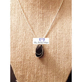 Blue goldstone wire wrapping necklace - Luzjewelrydesign   - 4