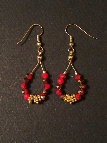 Red gold earrings - Luzjewelrydesign   - 3