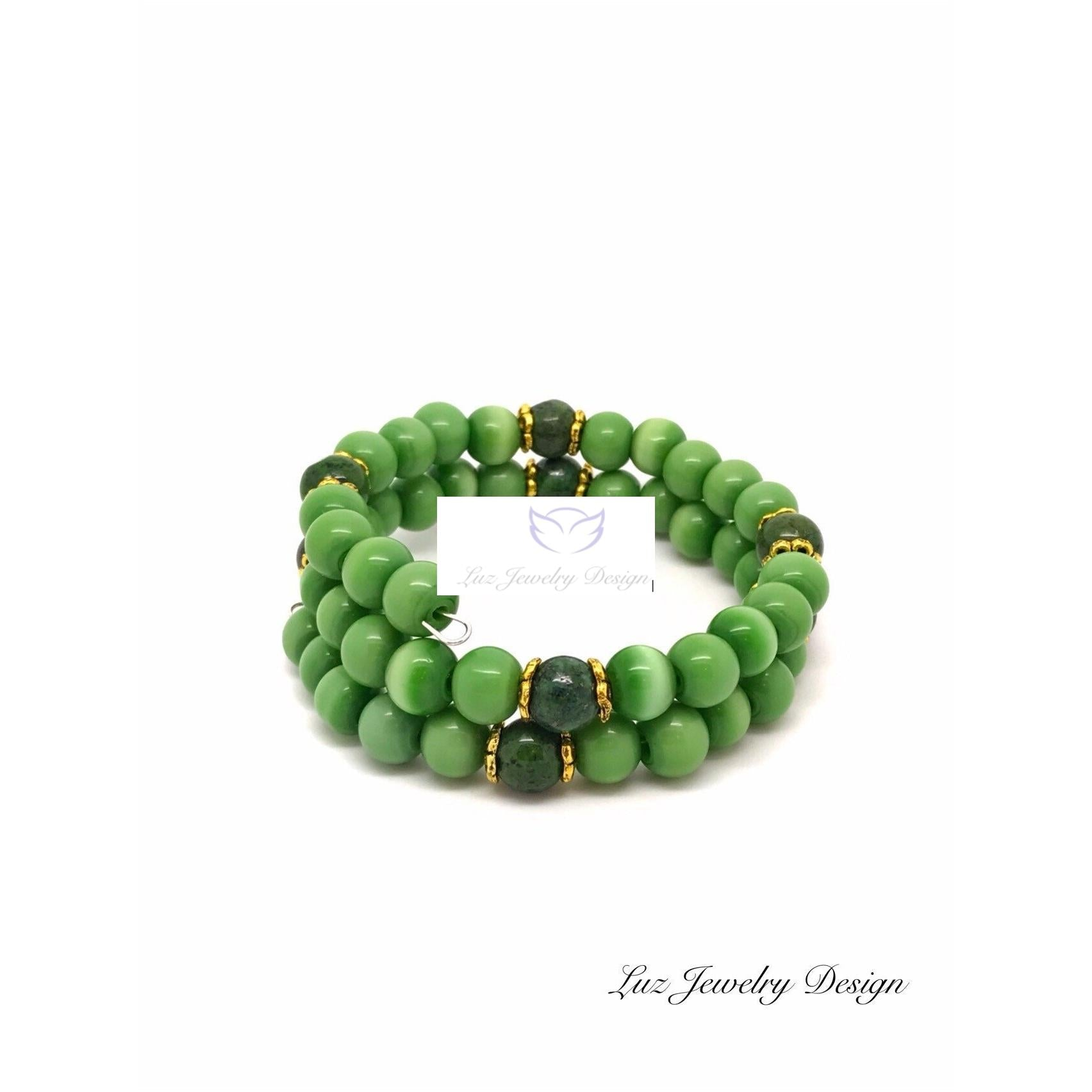 Green memory bracelet - Green gold memory bracelet - handcrafted Jewelry Luzjewelrydesign
