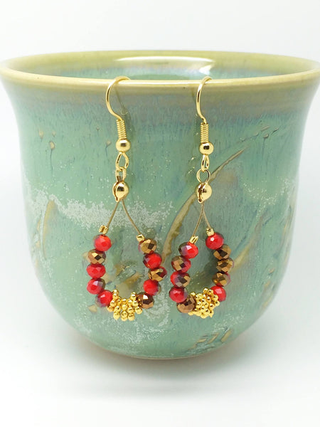 Red gold earrings - Luzjewelrydesign   - 1