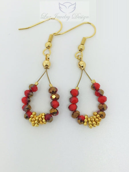 Red gold earrings - Luzjewelrydesign   - 4