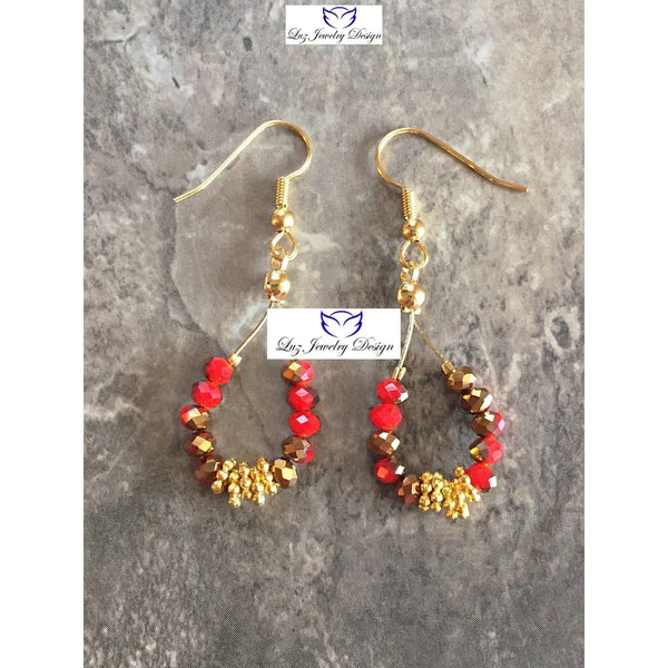 Red gold earrings - Luzjewelrydesign   - 5