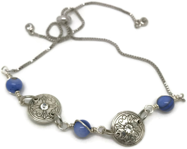 Blue Adjustable Bracelet - Luzjewelrydesign