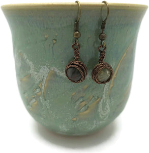 Picasso Jasper Brass Earrings - Luzjewelrydesign