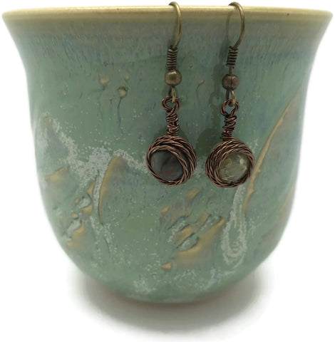 Picasso Jasper Brass Earrings