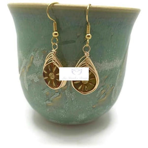 Yellow Gold Earrings - Luzjewelrydesign
