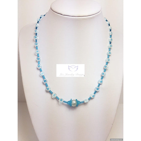 Baby blue children necklace