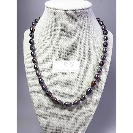 Knotted grey freshwater Pearls necklace - Luzjewelrydesign   - 1