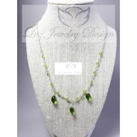 Lime green peridot quartz  sterling silver necklace - Luzjewelrydesign