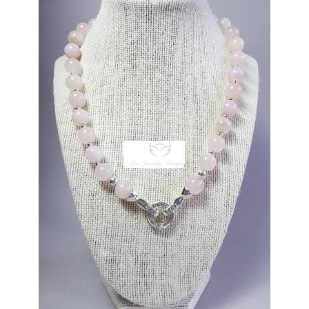 Pink Quartz necklace - handcrafted Jewelry Luzjewelrydesign