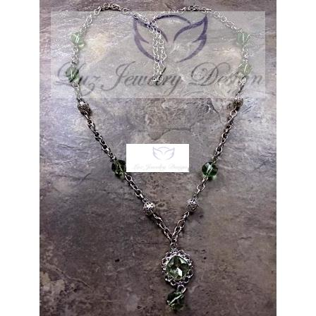 Green necklace - Luzjewelrydesign   - 2