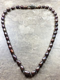 Knotted grey freshwater Pearls necklace - Luzjewelrydesign   - 2