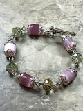 Purple cat eye bracelet, - Luzjewelrydesign   - 3