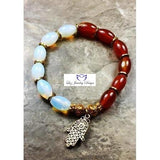 Brown and White Bracelet - Luzjewelrydesign   - 3
