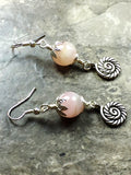 Rose Quartz earrings - Luzjewelrydesign   - 2