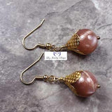 Brown moonstone earrings - Luzjewelrydesign   - 5