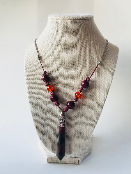 Brown necklace - handcrafted Jewelry Luzjewelrydesign