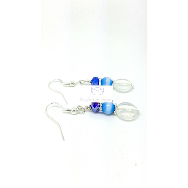 Blue crystal earrings - Luzjewelrydesign   - 2