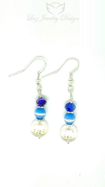 Blue crystal earrings - Luzjewelrydesign   - 3