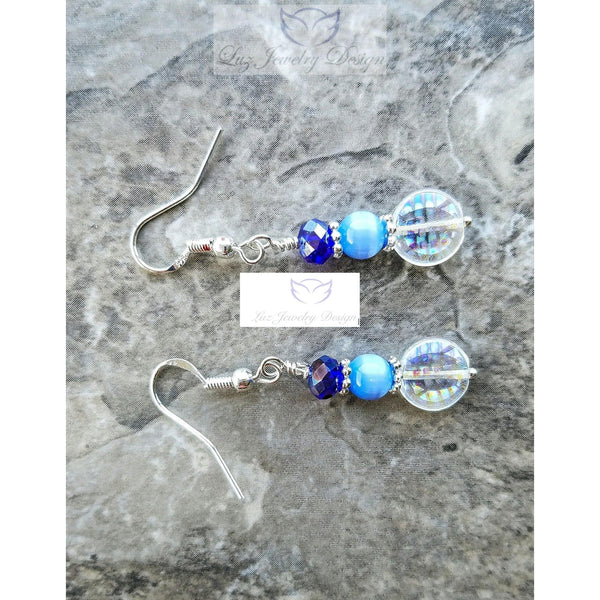 Blue crystal earrings - Luzjewelrydesign   - 4