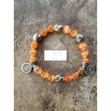 Orange cat eye bracelet - Luzjewelrydesign   - 3