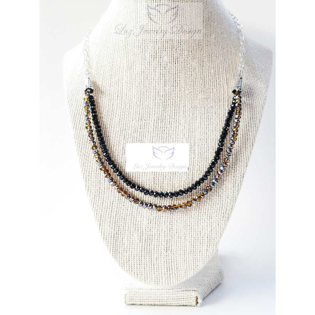 Brown and black necklace - Luzjewelrydesign   - 1