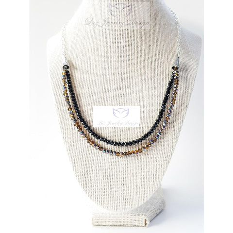 Brown and black necklace