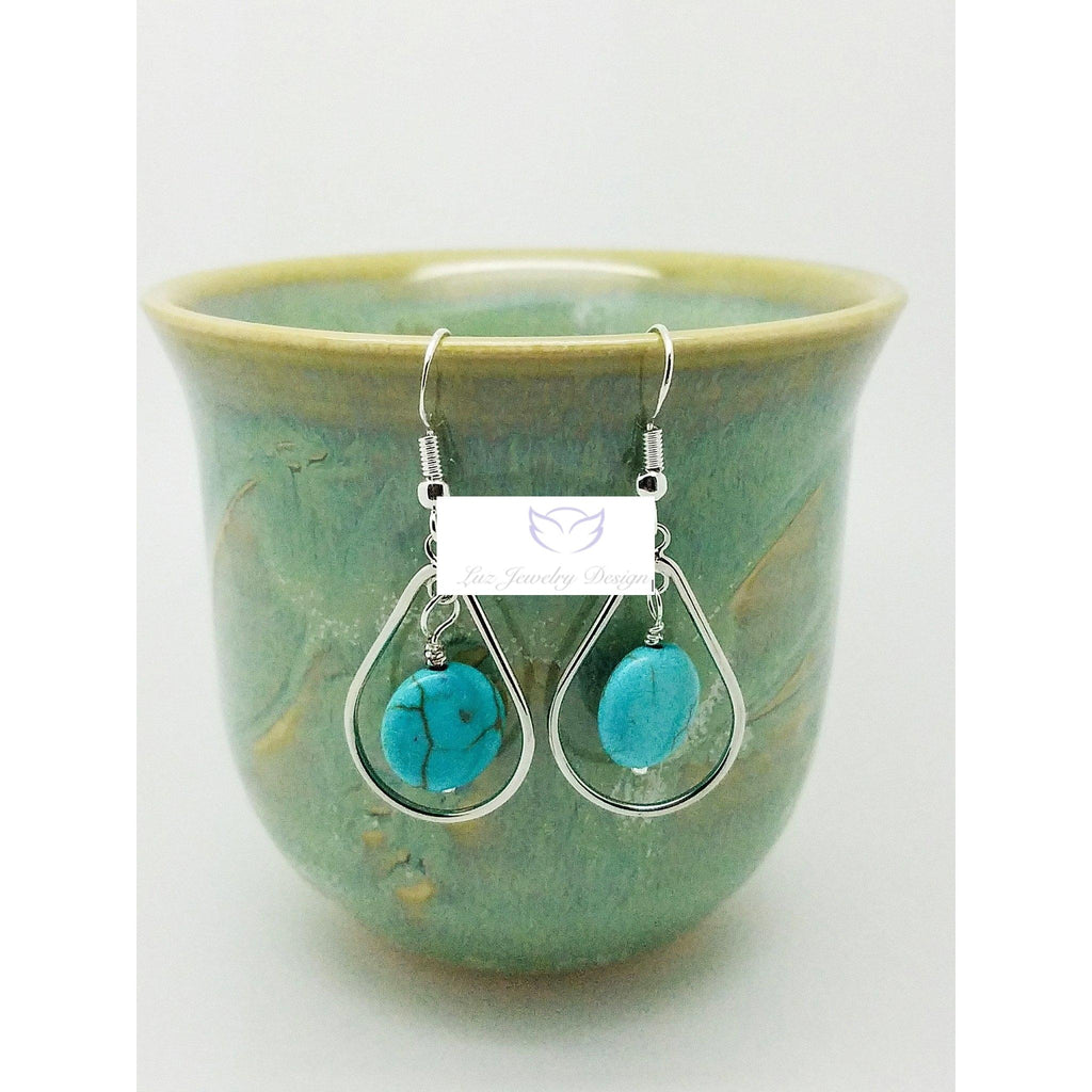 Turquoise earrings - Luzjewelrydesign   - 1