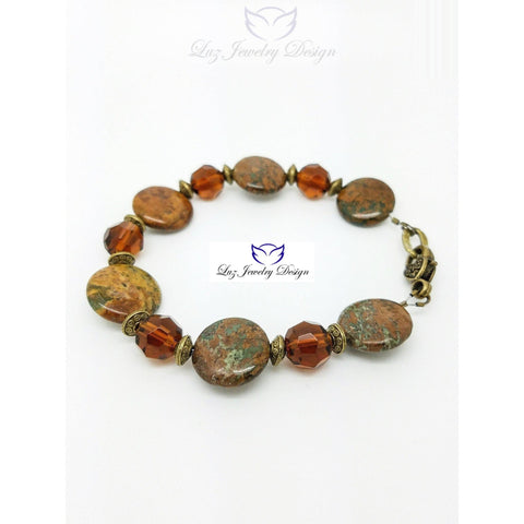 Light Brown Boho Style Bracelet Bohemian Brown Jewelry