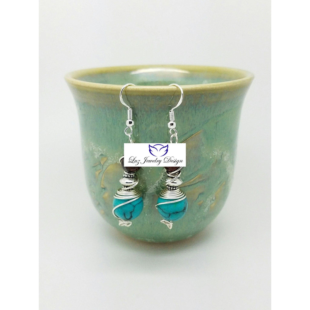 Bohemia Turquoise Earrings - Luzjewelrydesign   - 1