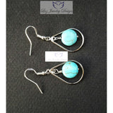 Turquoise earrings - Luzjewelrydesign   - 3