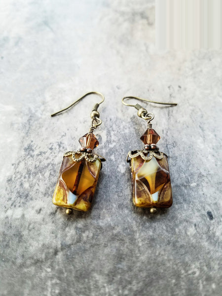 Brown Bohemia earrings - handcrafted Jewelry Luzjewelrydesign
