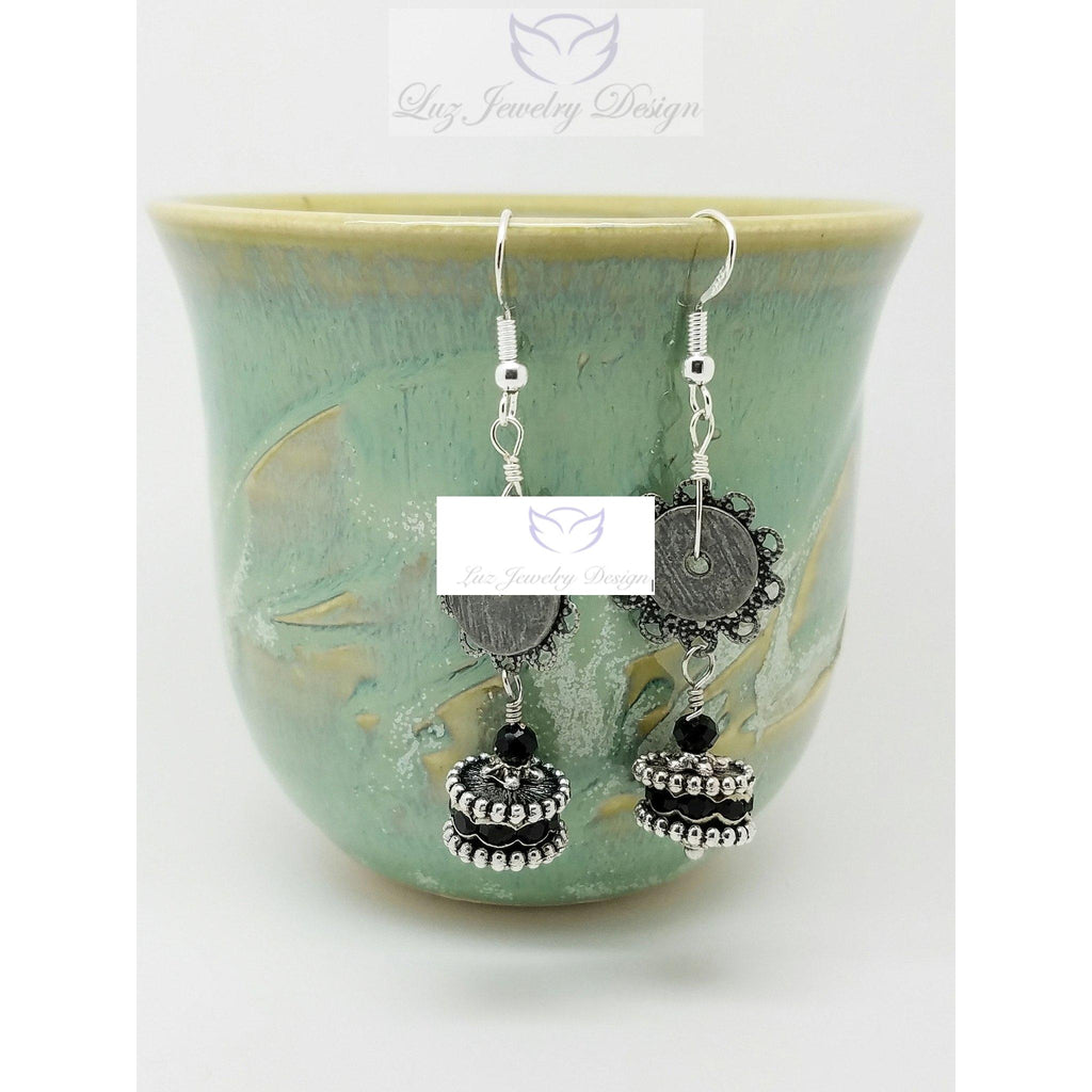 Black long earrings - Luzjewelrydesign   - 1