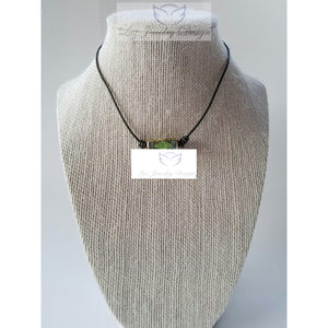 Green leather choker - handcrafted Jewelry Luzjewelrydesign