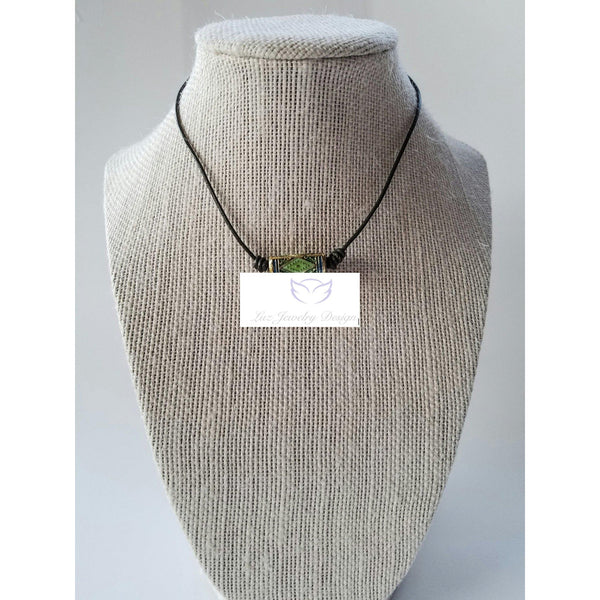 Green leather choker - Luzjewelrydesign   - 3
